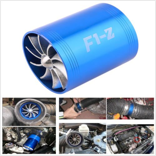Hot-sell F1-Z double Turbine Turbo d'admission d'air gaz Fuel Saver Fan Supercharger