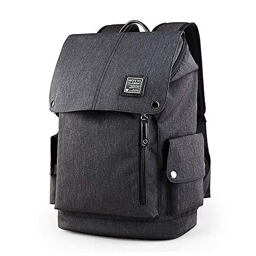 Zaino da uomo Casual Sport Travel Backpack Shoulder Oxford Borsa casual nera