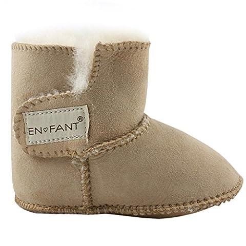 EN-FANT boots fourrées bébé mixte, coloris beige clair, taille M, 811840U-33