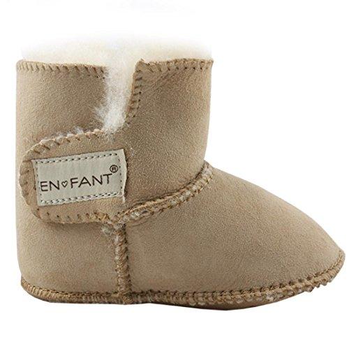 Enfant 811840U-33 Sheepskin Bootie, Winter Lauflernschuhe, Unisex, Beige, Gr. M - Schaffell Baby Booties