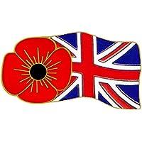 Papavero e bandiera pin badge