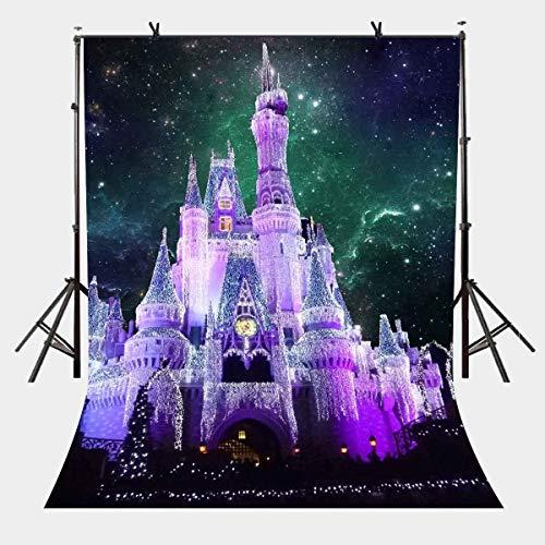 JoneAJ 5x7ft Traumschloss Kulisse Fantasy Starry Fairy Castle Fotografie Hintergrund Fotostudio Hintergrund Requisiten LYP046