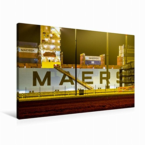 premium-textil-leinwand-90-cm-x-60-cm-quer-containerschiff-maersk-evora-bei-nacht-wandbild-bild-auf-