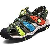 Pastaza Geschlossene Sandalen Sommer Strand Outdoor Sport Trekking Klettverschluss Schuhe Für Kinder Jungen Mädchen, Grün 35