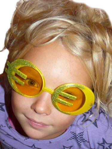 Glitzerbrille für Partyspaß Fasching Karneval und Halloween Brille AC07 (Halloween-kostüm Ideen Für Männer Beste Freunde)