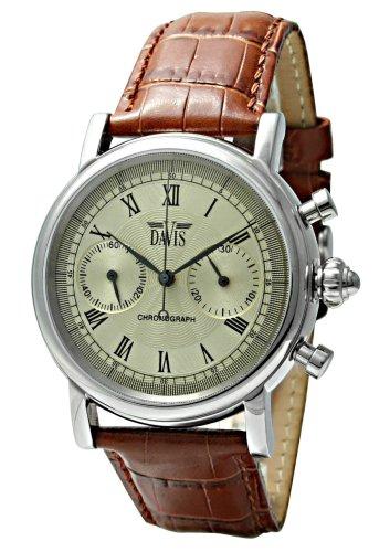 Davis 851 - Reloj de mujer de cuarzo con correa de acero inoxidable negra
