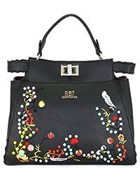 Roberto Ballmore Womens Leatherette Hand Bag Black - B076F6D4VL