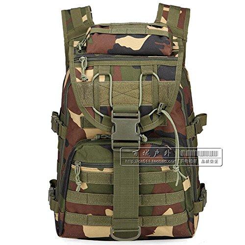 Militärische Fans Schulter Taktischen Angriff Tasche, Tarnung Computer - Tasche, Männer Und Frauen In Der Tasche - 40L Wander - Tasche Jungle camouflage
