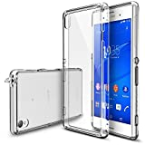 Sony Xperia Z3 Coque - Ringke FUSION ***Capuchon Anti-Poussière & Chute Protection*** [FREE HD Film][CRYSTAL VIEW] Crystal Clair Panneau de Dos Absorption des Chocs Pare-Chocs dur étui pour Sony Xperia Z3 (No pour Z3 Compact / Z3 Dual / Z3v) - Eco/DIY P