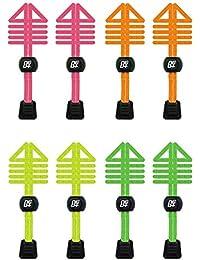 Paquetes de cordones de zapatos elásticos, con bloqueo, para correr y triatlón, THE NEON PACK