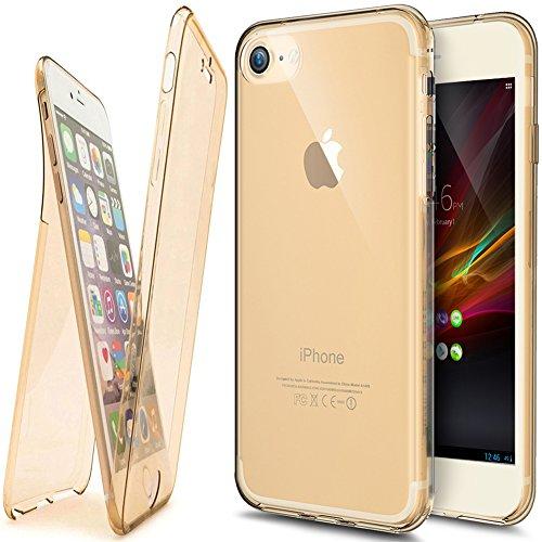 Coque iPhone 6S, Étui iPhone 6, iPhone 6S / iPhone 6 Case, ikasus® Coque iPhone 6S / iPhone 6 Étui de protection complet avant + arrière 360 degrés Étui en silicone souple [Shock-Absorption] Housse Té Or