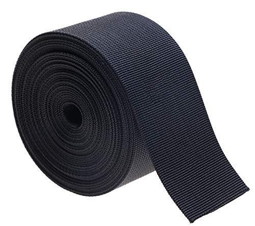 shapenty 5,1cm schwarz Nylon Gurtband Weave Umreifung Ersatz für Gürtel, Schnallen, Taschen, Outdoor Sport Gear, selbstgemachten Koffergurt, Rucksack, Hund Leinen, Haustier Kragen, 5Meter (Hunde Kostüm Selbstgemacht)