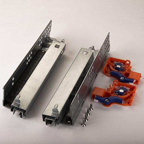 1 Paar SO-TECH® FullSlide Schubladenauszüge 250 mm für Holzschublade mit Push-to-Open/Drucköffner