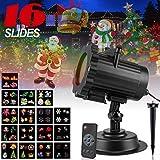 LED Projecteur lumière,16 Motifs Remplaçables Spot Paysage Eclairage Télécommande...