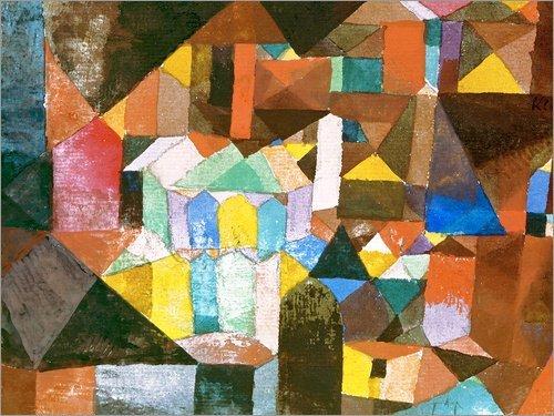 Posterlounge Alu Dibond 160 x 120 cm: Heitere Architektur von Paul Klee/ARTOTHEK