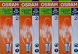 4 x OSRAM Classic Eco Superstar 30 W (entspricht 40 W), Kerzenform, E14, Halogen, Energiesparlampe, kleiner Edisonsockel, 405 lm, dimmbar, 240 V [Energieklasse D]