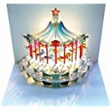 Forever Cards - Biglietto di auguri di compleanno con giostra pop-up
