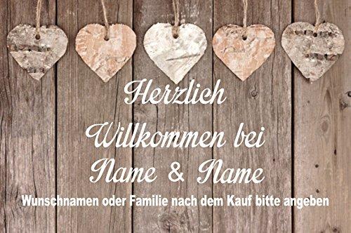 """Fussmatte m. Wunschnamen """" - Fussmatte bedruckt Türmatte Innenmatte Schmutzmatte lustige Motivfussmatte"""