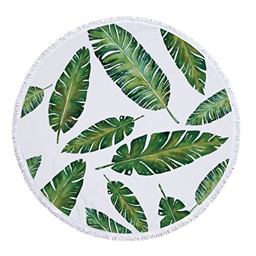 Strandtuch, Yogamatte, rund, Baumwolle, Tischdecke Strandtuch, runde Yogamatte, Bedrucktes Badetuch Ananas Totem Style 3 300g 150cm Polyester