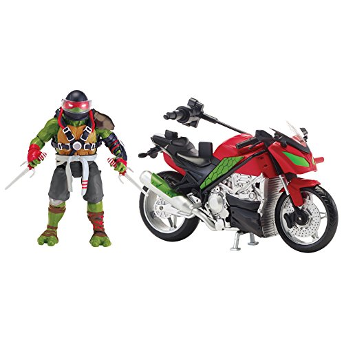 Teenage Mutant Ninja Turtles Movie 2 Out Of The Shadows Raphael With Motorcycle Vehicle With (Ninja Raphael Teenage Mutant Turtle)
