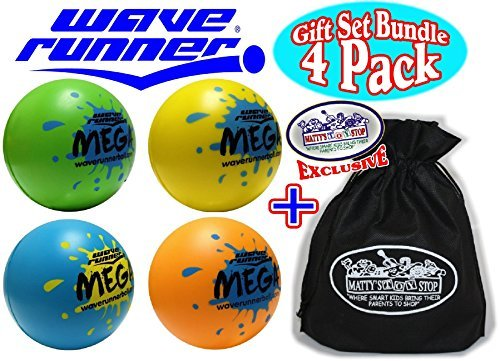wave-runner-mega-water-bounce-balls-blue-green-orange-yellow-deluxe-gift-set-party-bundle-with-exclu