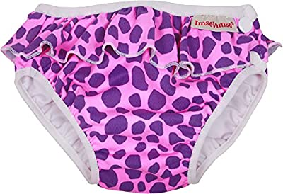 ImseVimse, pañal Bañador, badewindel, aquawindel, badewindel höschen Rosa Leopard L