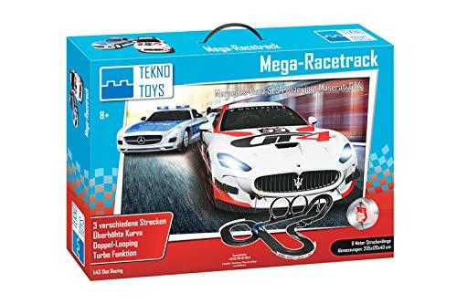 TEKNO TOYS Circuit de Voiture pour Enfants 1:43 Mercedes-Benz SLS AMG jagt Maserati GT4