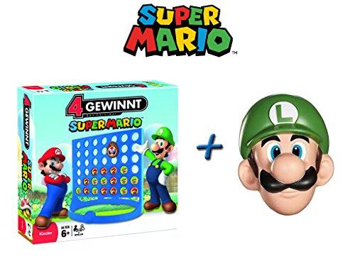 Unbekannt 4 GEWINNT - Super Mario - Spiel Gesellschaftsspiel Kinderspiel + Luigi Maske NEU & OVP (Super Connect Mario)