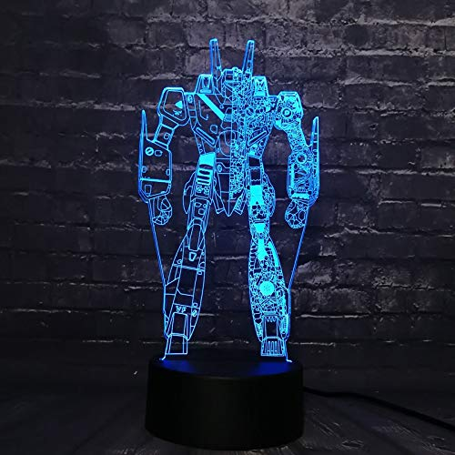 (dwqerwre 3D Nachtlampe 3D LED Nachtlicht Figur Cartoon Charakter Lava Lampara RGB 7 Farbwechsel Boy Kid Spielzeug USB Basis)