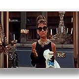 Box Prints Audrey Hepburn Frühstück Bei Tiffany Film Film Vintage Retro-Stil Leinwand Wand Kunstdruck Bild groß Klein