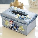 Peach Blossom tejido caja multifuncional Salón Creativa Control remoto de escritorio Cajón caja de almacenamiento diversos,??1