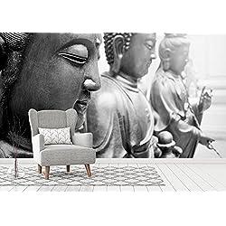 Fotomural Vinilo Pared Budas 200x150cm | Fotomural para paredes | Mural | Vinilo Decorativo | Varias Medidas | Decoración comedores, salones, habitaciones...