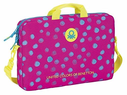 safta-benetton-dots-maletin-40-cm-rosa-verde