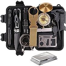 Kit di Sopravvivenza Multiuso,13 in 1 Survival kit ,Usato per Esterna First Aid Kit Per Gli Sport all'aria Aperta, Campeggio, Alpinismo, ecc