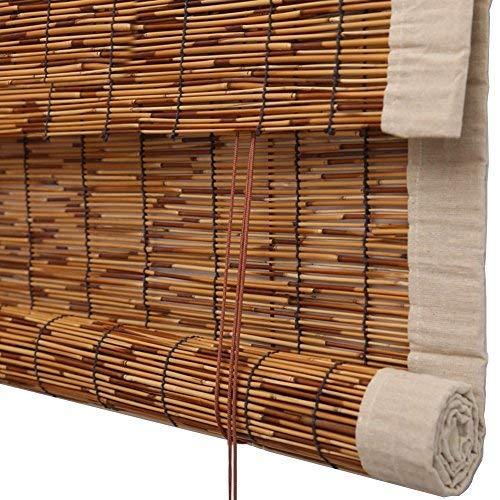 ERNTOGO Bambus Vorhang - Hochwertige Reed Heben Dekoration Rollo Retro Wasserdicht und Mehltau...