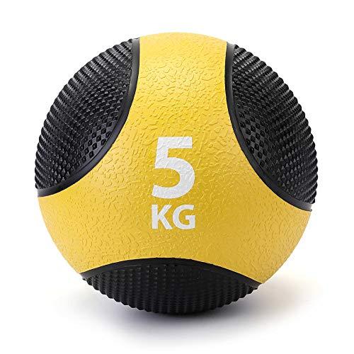ZELUS Palla Medica di Gomma per Allenamento Pesi/Fitness/Allenamento da Pugilato/Esercizio di...