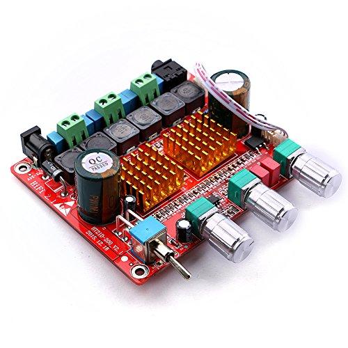 Yeeco 100W 2x50W Tre Canali Hi-Fi Classe D Audio Stereo Amplificatore Potenza Amplificatore Auto Modulo con DC12-24V Alimentazione e MP3 Decodifica Società / Climatizzazione Porte Collegamento / Audio uscita 3.5mm Fan