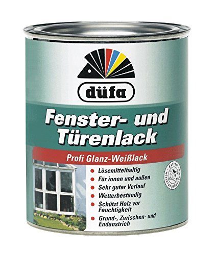 Düfa Fenster & Türenlack 3in1 Profi Glanz-Weißlack innen&außen 2,5 L