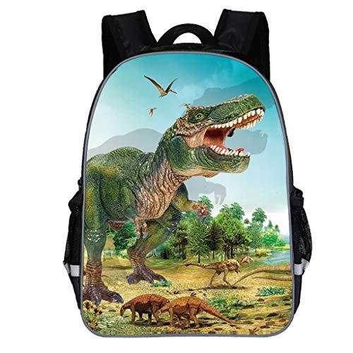 Dorical Schulrucksack für Kinder Kleinkinder Dinosaur Drucken Rucksack, Studenten Schultasche, Daypack Reise Backpack für Schüler Outdoor Freizeit, für Junge und Mädchen 3-10 Jahre(Grün)