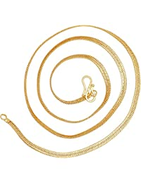 Fashion Jewels Exclusive Golden Stylish Designer Gold Plated Chain For Girls, Women,Mens,Ladies Golden Ethnic...