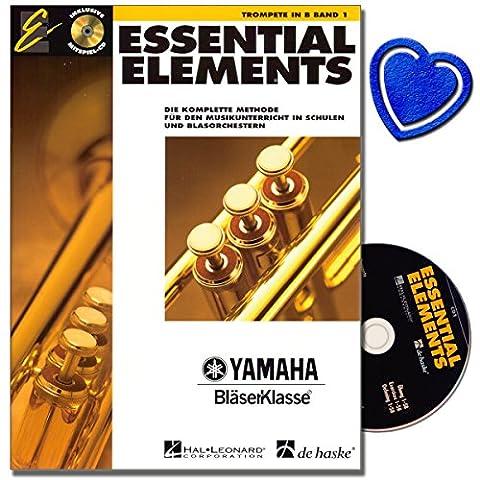 Essential Elements bande 1avec CD pour Trompette dans b–Cours de la Méthode complète pour la musique dans les Écoles Et Blas orchestres–avec cœur Note colorée
