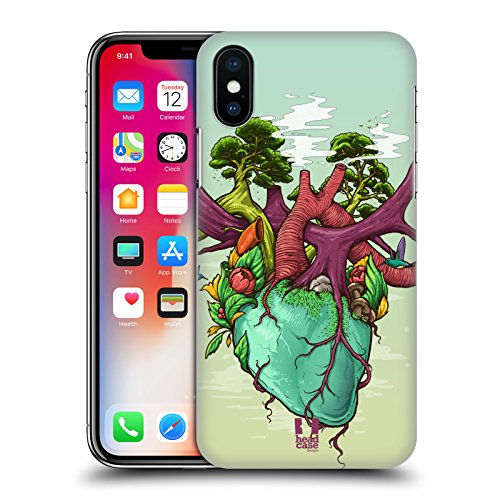 Head Case Designs Cuore Della Natura Anatomia Umana Cover Retro Rigida per Apple iPhone X Cuore Della Natura