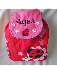 Personalizado Mochila con bordados de cualquier nombre. Gran regalo para recién nacido, Diseño de mariquita, en la…