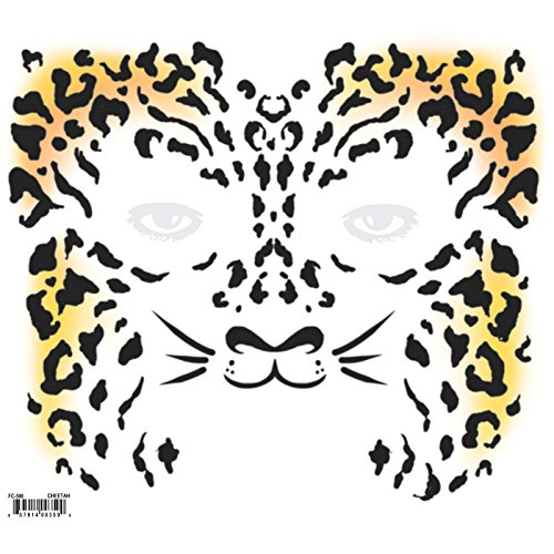 Epic Armoury MW-130039 Gepard Temporary Face Tattoo-Transfer, Unisex-Erwachsene