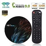 Android 9.0 Smart TV Box 【RAM 4G+32G ROM】 HK1 RK3318 Quad Core/4K Ultra HD /H.265/HDMI/ WiFi Media Player by AMISTARK