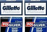 Lames de rasage Gillette Platinum et Polsilver