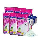 6 x 5 = 30 L Power Cat Magic Silicate Cat Litter Powercat fako