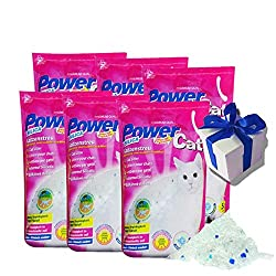 6 x 5 = 30 L Power Cat Magic Silikat Katzenstreu Powercat Streu
