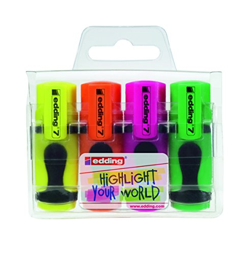 edding Textmarker edding 7 mini highlighter, 1-3 mm, sortiertes Set