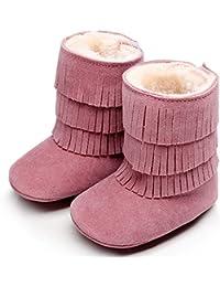 Botas Unisex de Nieve de Niñas Niños con Borla de Scrub Terciopelo Zapatos de Bebé de